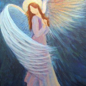 imagenes de un angel en el cielo